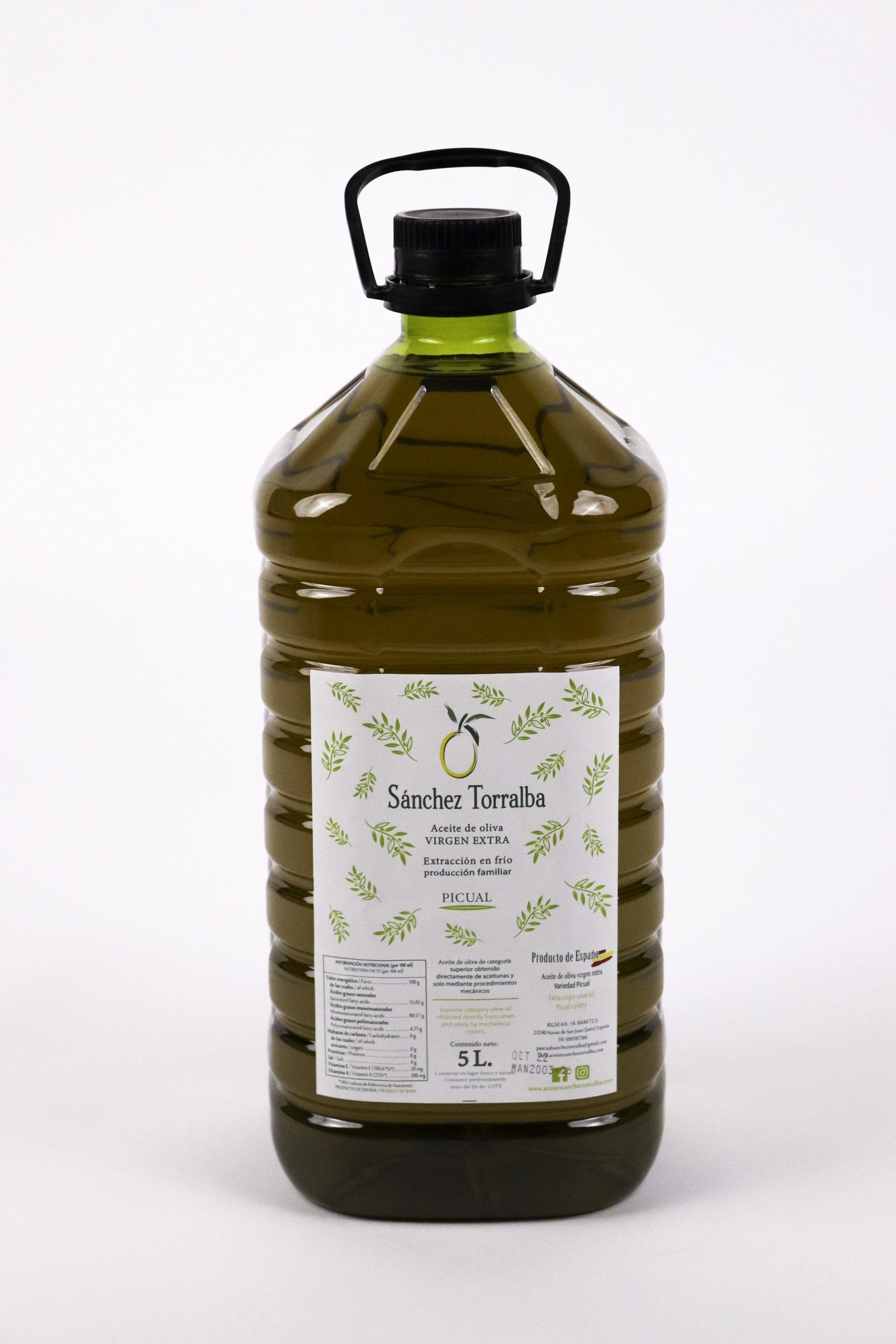 Aceite de oliva virgen extra Sánchez Torralba - Formato 5l